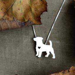 Jack Russell Terrier Itty Bitty Sterling Silver Necklace
