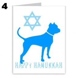 Pit Bull Hanukkah Star of David Note Cards
