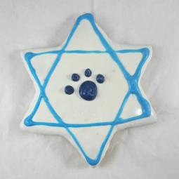 Large Happy Hanukkah Star of David Dog Treat