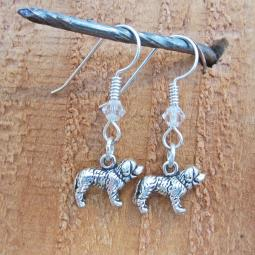 Saint Bernard Sterling Silver Earrings