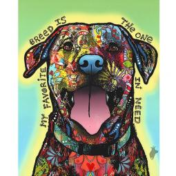 The One In Need Indelible Dog Dean Russo Print