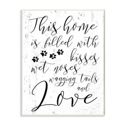 This Home is Filled with Kisses Wall Art Plaque