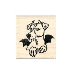 Pit Bull Vampire Bat Devil Dog Rubber Stamp