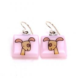 Wag Dog Glass Earrings