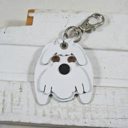 Maltese Metal Rivet Tag/Keychain