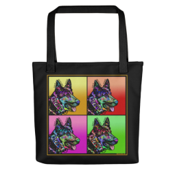 Who Rescued Who Indelible Dog Tote Bag