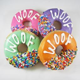 Medium WOOF Donut Dog Treat