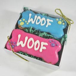 Woof Times Two Dog Treat Gift Box