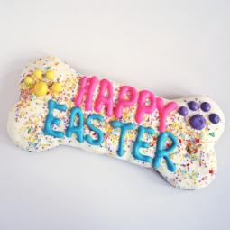 XL Happy Easter Dog Bone Treat