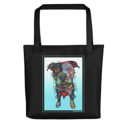 Big Heart Indelible Dog Tote Bag