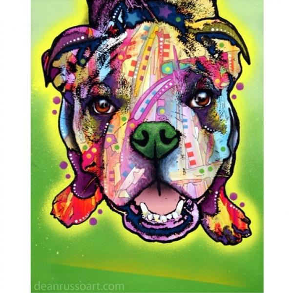 Bulldog Pup Print by Dean Russo - ONLY 1 LEFT