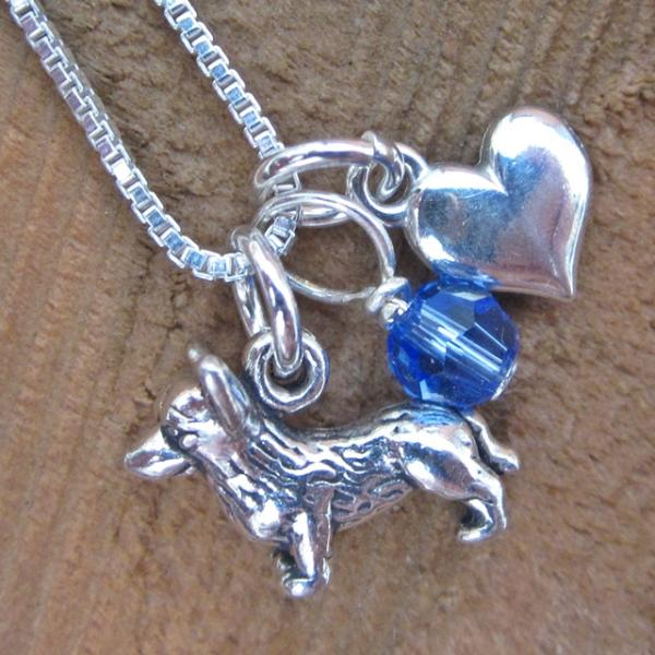 Corgi Mini Heart Sterling Silver Necklace