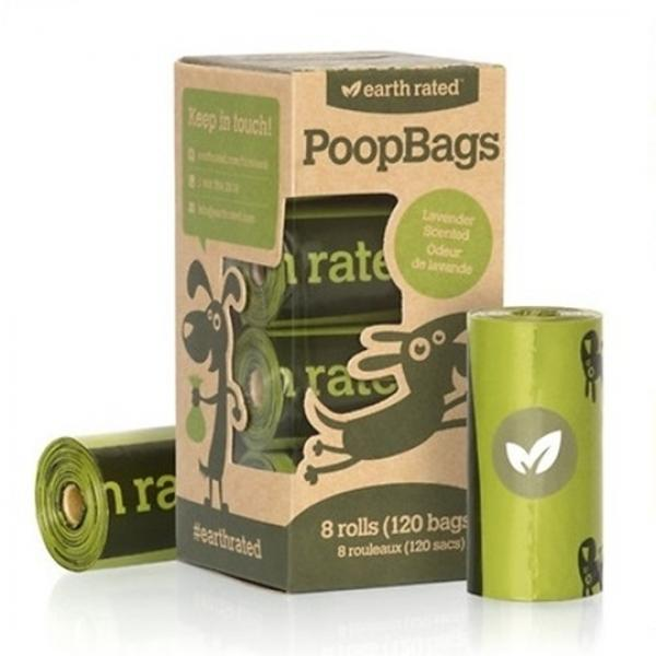 Earth Rated Poop Bags Refill Pack 120-Count/8 Rolls