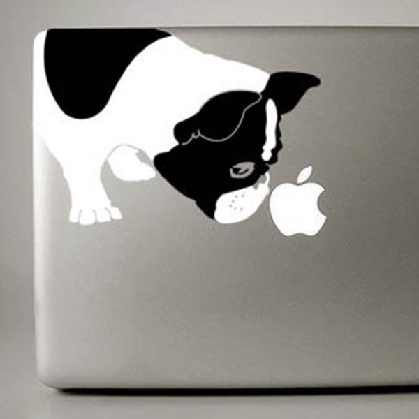 Black and White French Bulldog Large Decal