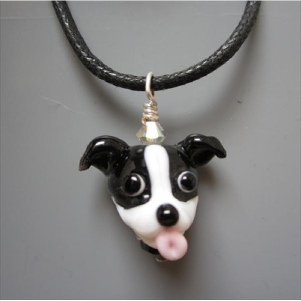 Black white pit bull glass pendant necklace dog park publishing black white pit bull glass pendant necklace aloadofball Choice Image