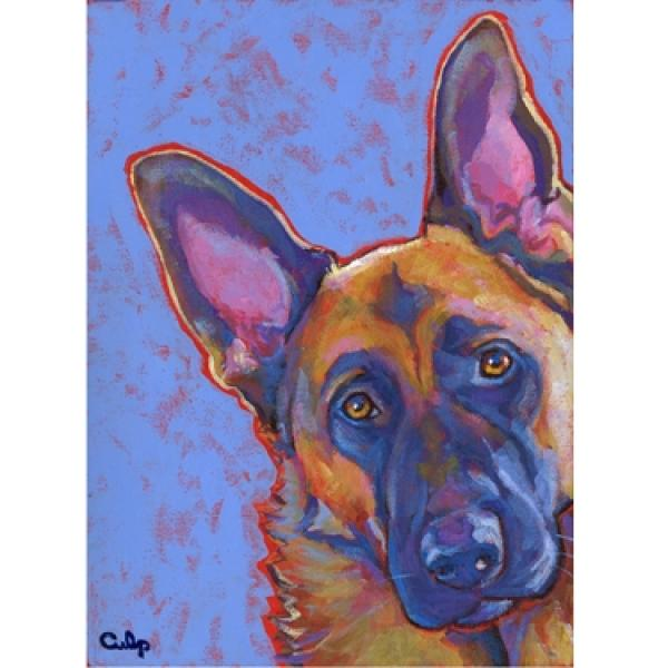 German Shepherd Blue Print
