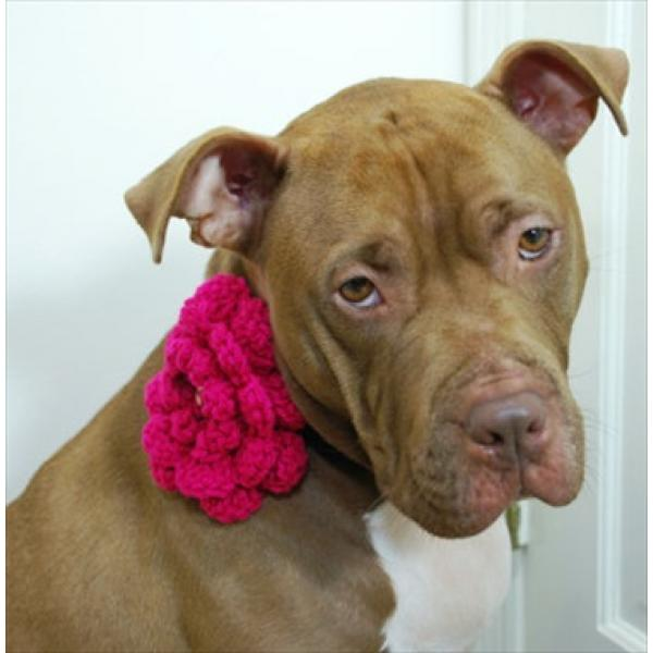 Hot Pink Clip On Crochet Flower