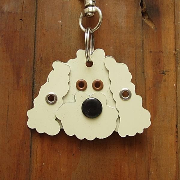 Labradoodle Metal Rivet Tag/Keychain