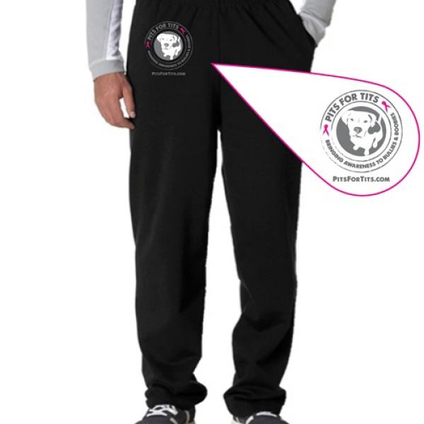 Pits For Tits Open Bottom Unisex Sweatpants (multi color)
