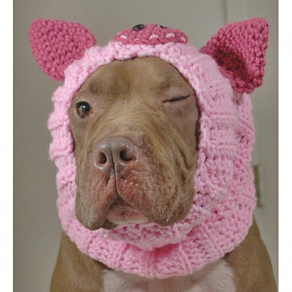 Pink Pig Crochet Snood