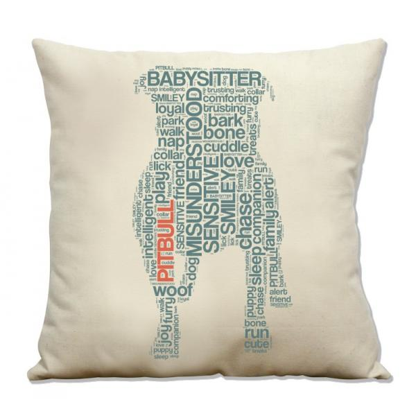Pit Bull Text Pillow