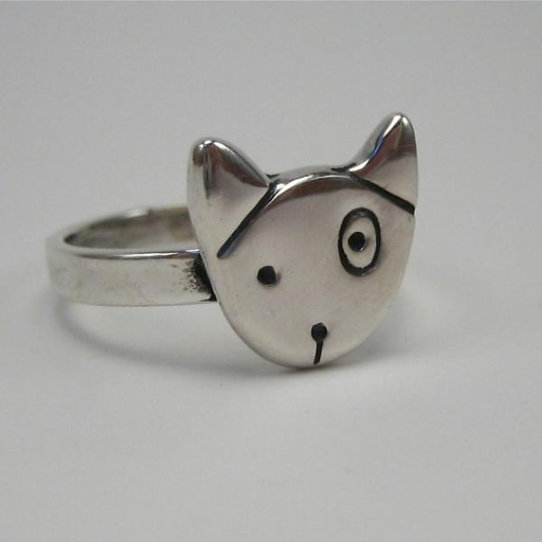Spot Dog Sterling Silver Ring