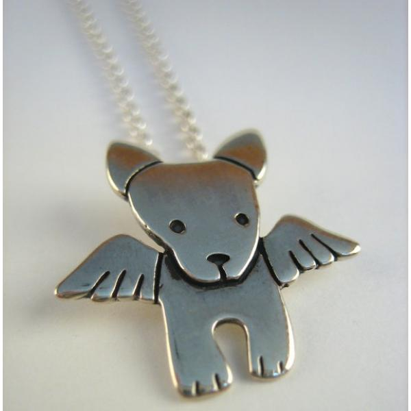 Angel Pibble Sterling Silver Necklace