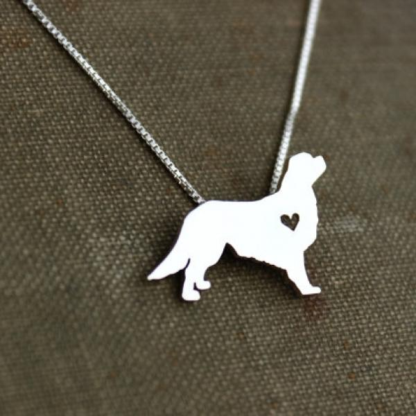 King Charles Cavalier Itty Bitty Sterling Silver Necklace