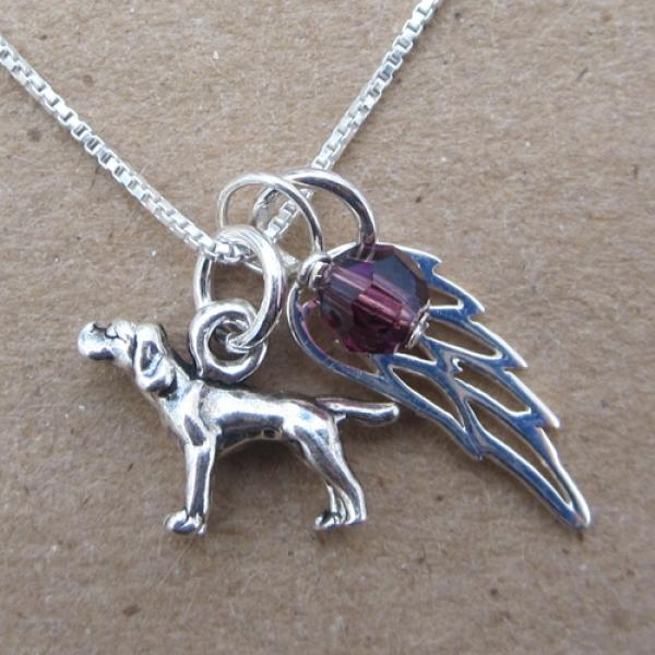 Pointer Mini Angel Wing Sterling Silver Necklace