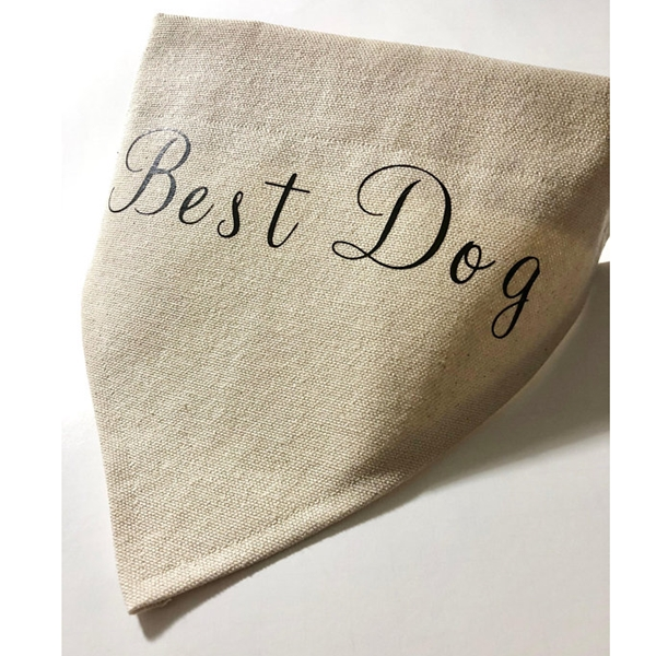 Best Dog Canvas Dog Bandana