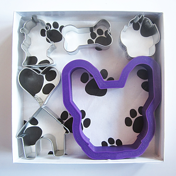 French Bulldog Six Piece Cookie Cutter Set + a Letter!