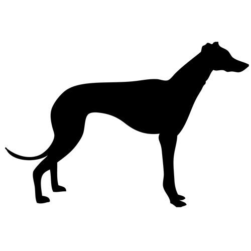 Greyhound Small Decal