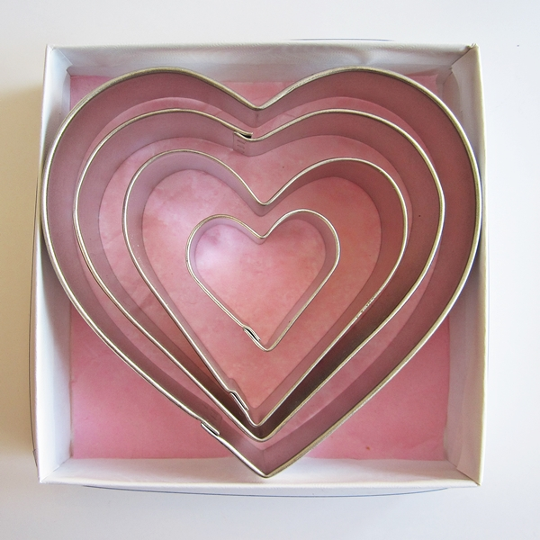 In My Heart Four Piece Cookie Cutter Set