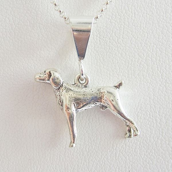 Weimaraner Large Pendant Charm and Necklace