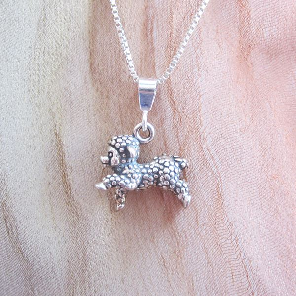 Lamb Pendant Charm and Necklace