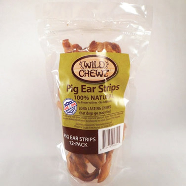 Pig Ear Strips Value Pack of 12