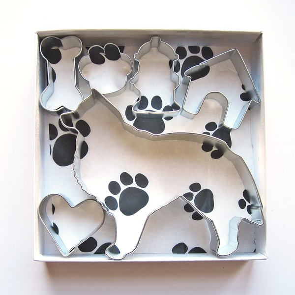 Sheltie Six Piece Cookie Cutter Set + a Letter