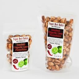 Papa's Best Batch Chipotle Lime Smoked Pistachio Nuts-For HUMANS