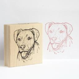 Fritz the Pitbull Rubber Stamp