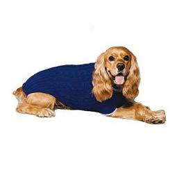 XL Blue Cable Knit Dog Sweater