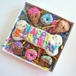 Happy Birthday Sprinkle Dog Treat Assortment