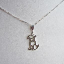 Itty Pittie Sterling Silver Charm and Necklace