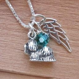 Maltese Mini Angel Wing Sterling Silver Necklace