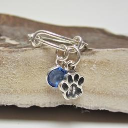 Paw Print Adjustable Stackable Ring