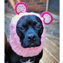 Pink Panda Crochet Snood
