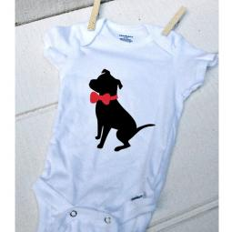 Pit Bull with a Bow Onesie (multi color)