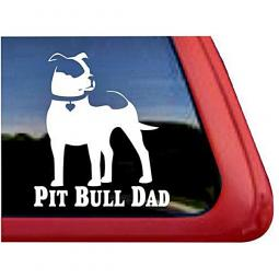 Pit Bull Dad Large Decal