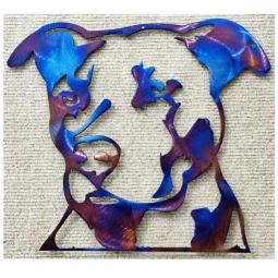 Pit Bull Metal Wall Hanging (2 Sizes)