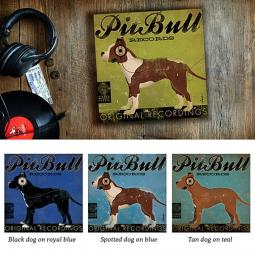 Pit Bull Records 10x10 Giclee Print (multi colors)