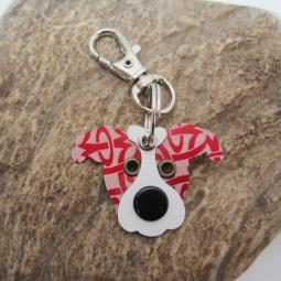 Pittie Pattern Red Limited Edition Keychain